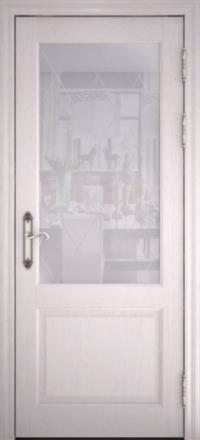 Межкомнатная дверь Uberture Versailes 40004 ясень перламутр со стеклом