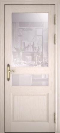 Межкомнатная дверь Uberture Versailes 40006 ясень перламутр со стеклом