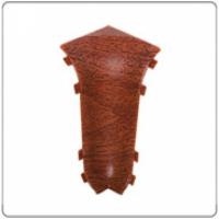 Угол внутренний для плинтуса ПВХ Идеал Кофморт в цвет 55x22