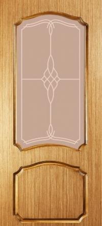 Межкомнатная дверь Левша Классика №1 Дуб со стеклом