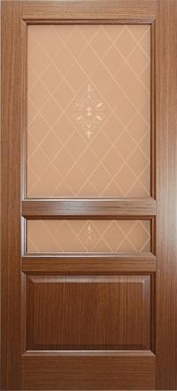 Межкомнатная дверь Дворецкий Готика орех остекленная