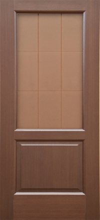 Межкомнатная дверь Дворецкий Классик венге остекленная