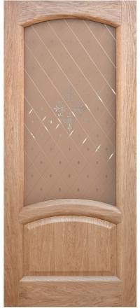 Межкомнатная дверь Дворецкий Соло натуральный дуб остекленная
