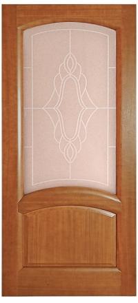 Межкомнатная дверь Дворецкий Соло темный анегри остекленная