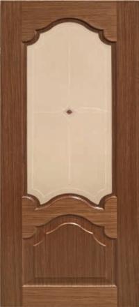 Межкомнатная дверь Дворецкий Виктория орех остекленная