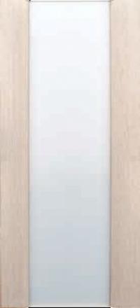 Межкомнатная дверь Дворецкий Спектр 3 беленый дуб остекленная белый триплекс