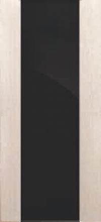 Межкомнатная дверь Дворецкий Спектр 3 беленый дуб остекленная черный триплекс