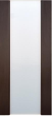 Межкомнатная дверь Дворецкий Спектр 3 венге остекленная белый триплекс