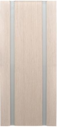 Межкомнатная дверь Дворецкий Спектр 2 беленый дуб остекленная белый триплекс
