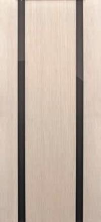 Межкомнатная дверь Дворецкий Спектр 2 беленый дуб остекленная черный триплекс