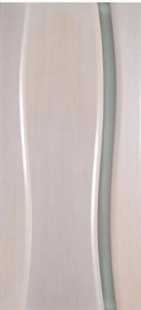 Межкомнатная дверь Дворецкий Диадема 1 беленый дуб остекленная