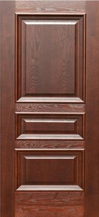 Межкомнатная дверь Дворецкий Равена дуб коньяк глухое полотно