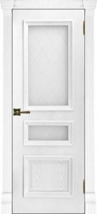 Межкомнатная дверь Regidoors Elegante Classico Барселона Perla со стеклом Квадро