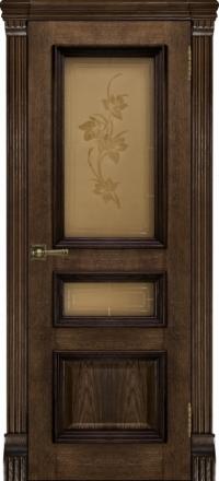 Межкомнатная дверь Regidoors Elegante Classico Барселона Brandy со стеклом Соната