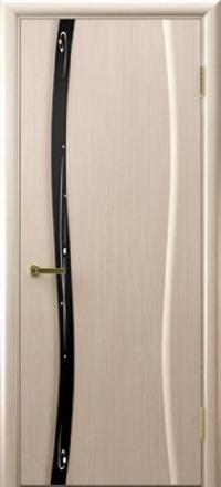 Межкомнатная дверь Regidoors Vetro Диамант-1 Беленый дуб со стеклом