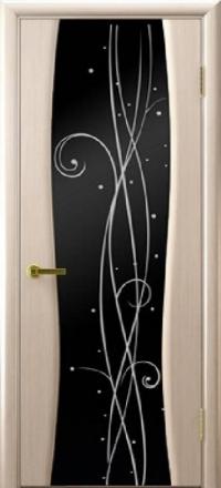 Межкомнатная дверь Regidoors Vetro Диамант-2 Беленый дуб со стеклом