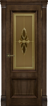 Межкомнатная дверь Regidoors Elegante Classico Корсика Brandy со стеклом Кармен