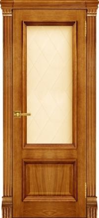 Межкомнатная дверь Regidoors Elegante Classico Корсика Patina Antico со стеклом Квадро