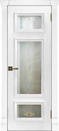 Межкомнатная дверь Regidoors Elegante Classico Мадрид Perla со стеклом Мираж