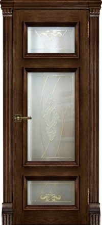 Межкомнатная дверь Regidoors Elegante Classico Мадрид Brandy со стеклом Мираж