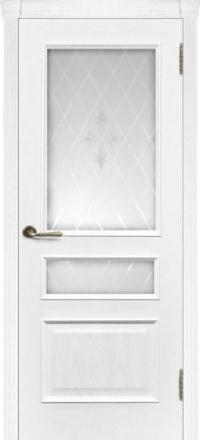 Межкомнатная дверь Regidoors Eco Милан Ясень жемчуг со стеклом