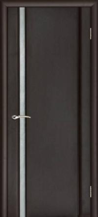 Межкомнатная дверь Regidoors Vetro Техно-1 Венге со стеклом