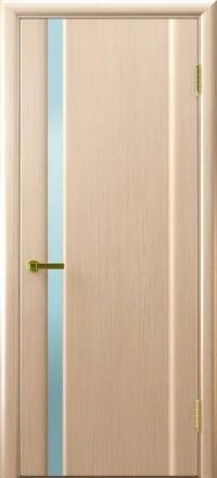 Межкомнатная дверь Regidoors Vetro Техно-1 Беленый дуб со стеклом