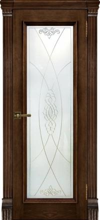 Межкомнатная дверь Regidoors Elegante Classico Тоскана Brandy со стеклом Мираж
