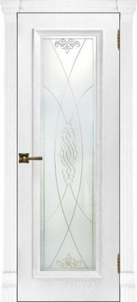 Межкомнатная дверь Regidoors Elegante Classico Тоскана Perla со стеклом Мираж