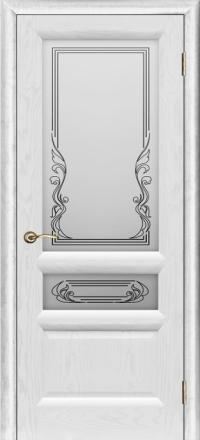 Межкомнатная дверь Regidoors Gracia Валенсия-2 Ясень жемчуг со стеклом