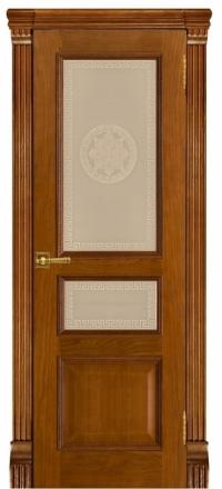 Межкомнатная дверь Regidoors Grang Гранд-2 Patina Antico со стеклом Версаче