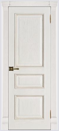 Межкомнатная дверь Regidoors Grang Гранд-2 Patina Bianco глухая