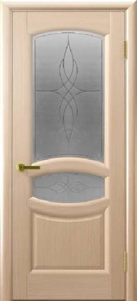 Межкомнатная дверь Regidoors Gracia Анастасия Беленый дуб со стеклом