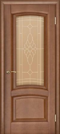 Межкомнатная дверь Regidoors Gracia Лаура Темный анегри со стеклом
