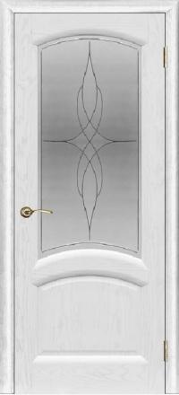 Межкомнатная дверь Regidoors Gracia Лаура Ясень жемчуг со стеклом