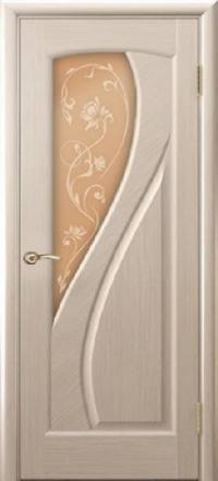 Межкомнатная дверь Regidoors Gracia Мария Беленый дуб со стеклом