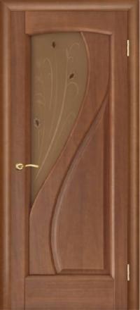 Межкомнатная дверь Regidoors Gracia Мария Темный анегри со стеклом