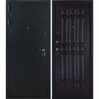 Стальная входная дверь ЗК Лайт Черный бархат-Венге