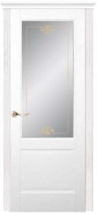 Межкомнатная дверь Дариано Лион Ясень бланко со стеклом