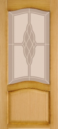 Межкомнатная дверь Левша Классика №4 Дуб со стеклом