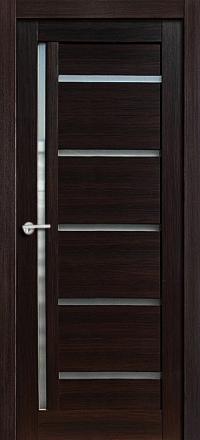 Межкомнатная дверь Porta Bella Эко Flex Дана черный бархат остекленная
