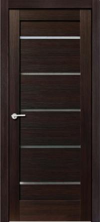Межкомнатная дверь Porta Bella Эко Flex Модерн черный бархат остекленная