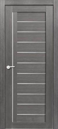Межкомнатная дверь Porta Bella Эко Flex Палермо М графит остекленная