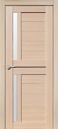 Межкомнатная дверь Porta Bella Эко Flex Соренто М самшит белый остекленная