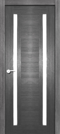 Межкомнатная дверь Porta Bella Эко Flex Стелла графит остекленная