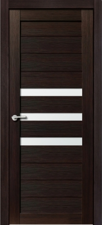 Межкомнатная дверь Porta Bella Эко Flex Квинта 3 черный бархат остекленная