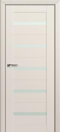 Межкомнатная дверь ПрофильДорс 7U Магнолия Сатинат со стеклом