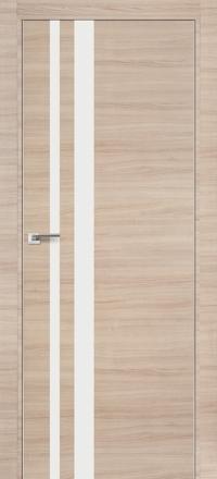 Межкомнатная дверь ПрофильДорс 16Z кромка хром цвет Капучино кроскут глянцевая вставка
