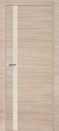 Межкомнатная дверь ПрофильДорс 6Z кромка хром цвет Капучино кроскут стекло перламутровый лак
