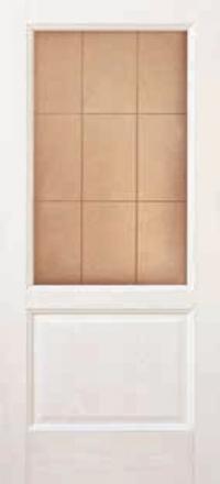 Межкомнатная дверь Дворецкий Классик белый ясень остекленная
